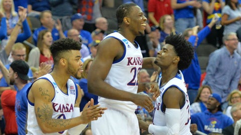 8:49, TBS: No. 1 Kansas vs. No. 3 Oregon