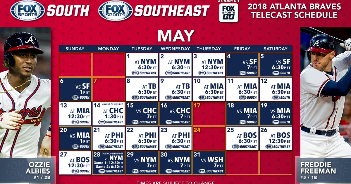 atlanta braves schedule 2018 pdf