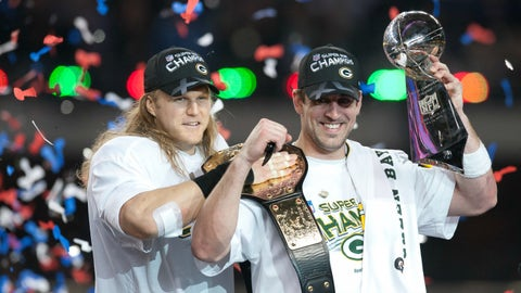 Aaron Rodgers' championship belt from Super Bowl XLV