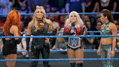 Alexa Bliss vs. 'every available woman on the SmackDown' roster for the SmackDown Women's Championship