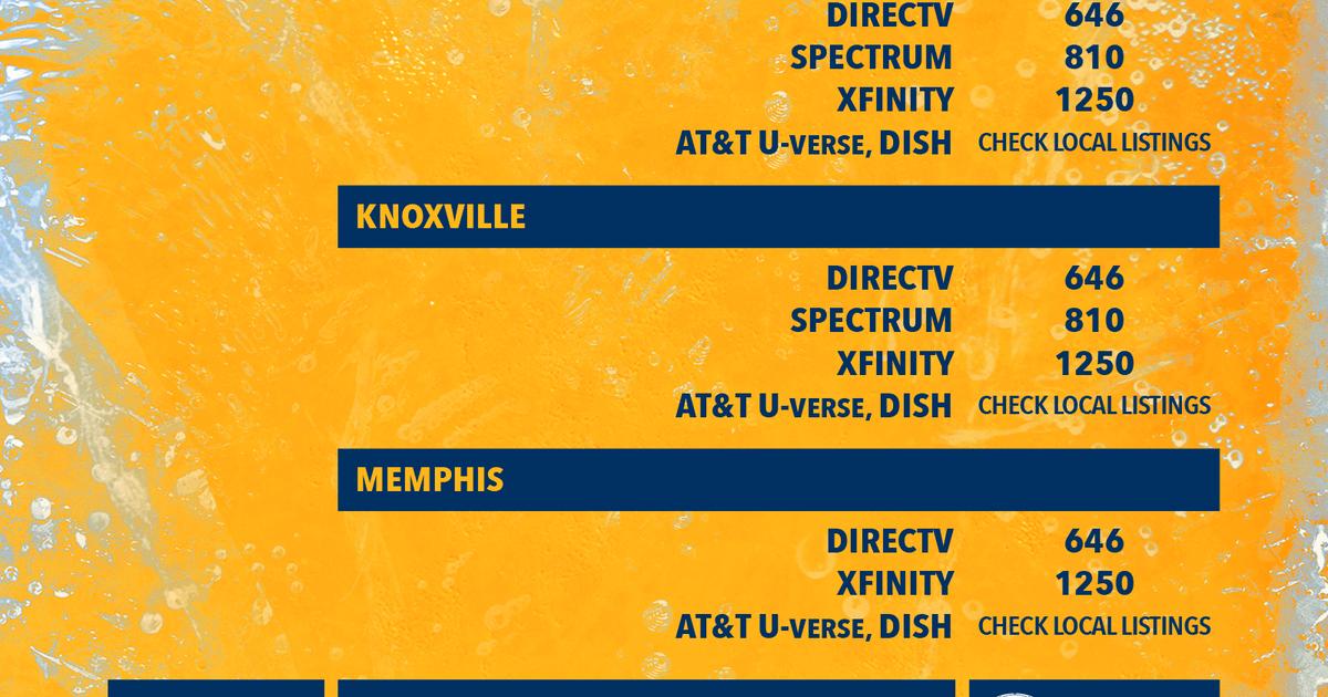 Nashville Predators Channel Listings | FOX Sports