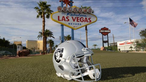 Why didn't the Raiders go to Las Vegas immediately?