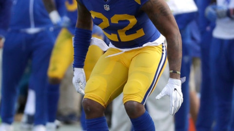 Los Angeles Rams cornerback Trumaine Johnson (22) during the first half of an NFL football game against the San Francisco 49ers, Saturday, Dec. 24, 2016, in Los Angeles. (AP Photo/Rick Scuteri)