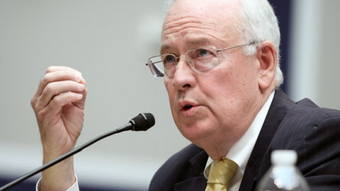 """FILE - In this May 8, 2014, file photo, Baylor University President Ken Starr testifies at the House Committee on Education and Workforce on college athletes forming unions. in Washington. Texas' top law enforcement agency has opened a preliminary investigation into Baylor University and how it handled reports of sexual and physical assault over several years. The Texas Rangers confirmed Wednesday, March 1, 2017, they are working with the McLennan County prosecutor's office to """"determine if further action is warranted."""" Baylor fired football coach Art Briles in 2016 and demoted President and Chancellor Starr, who later resigned. Former athletic director Ian McCaw also resigned and is now at Liberty University in Virginia. (AP Photo/Lauren Victoria Burke, File)"""