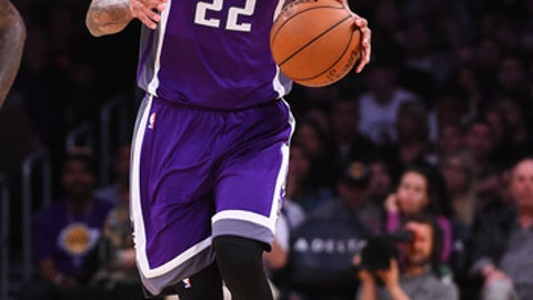 LOS ANGELES, CA - FEBRUARY 14: Matt Barnes #22 of the Sacramento Kings takes the ball down court during the game against the Los Angeles Lakers at Staples Center on February 14, 2017 in Los Angeles, California. NOTE TO USER: User expressly acknowledges and agrees that, by downloading and or using this photograph, User is consenting to the terms and conditions of the Getty Images License Agreement. (Photo by Jayne Kamin-Oncea/Getty Images)
