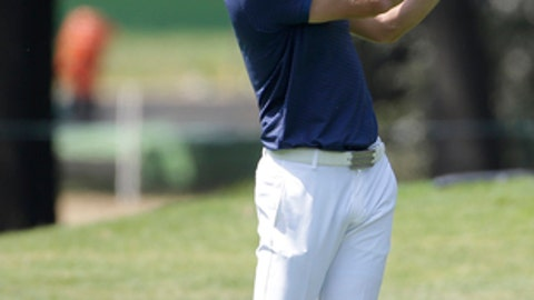 Dustin Johnson of the U.S. plays a shot on the 10th hole, in round one of the Mexico Championship at Chapultepec Golf Club in Mexico City, Thursday, March 2, 2017. All but one of the world's top 50 golfers are contesting the World Golf Championship PGA event, which this year relocated to Mexico City from the Trump National Doral Resort in Florida. (AP Photo/Rebecca Blackwell)
