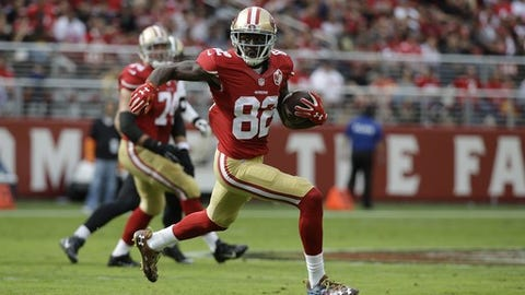 San Francisco 49ers wide receiver Torrey Smith during the first half of an NFL football game against the New Orleans Saints Sunday, Nov. 6, 2016, in Santa Clara, Calif. (AP Photo/Tony Avelar)