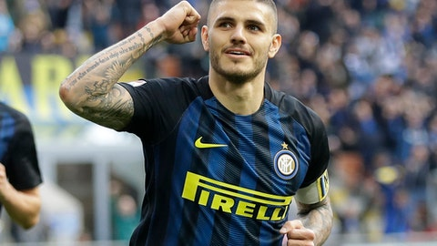 Mauro Icardi - 40 points