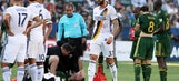 MLS not happy with LA Galaxy's viral Portland Timbers diving video