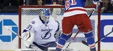 Point's 2nd goal snaps tie in 3rd, Lightning top Rangers 3-2