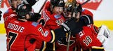 Flames edge Pens in SO, tie team mark with 10th straight win