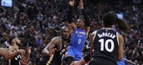Another triple-double for Westbrook as Thunder top Raptors