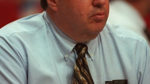 27 Apr 1996:  General Manager Jerry Krause of the Chicago Bulls during the Bulls 106-101 Eastern Final win over the Orlando Magic at the Orlando Arena in Orlando, Florida.   Mandatory Credit: Jonathan Daniel/ALLSPORT  Mandatory Credit: Jonathan Daniel/ALL
