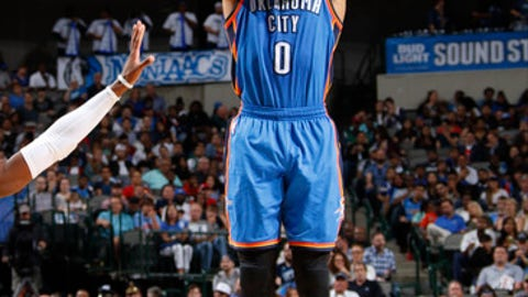Westbrook's true shooting percentage is the lowest among MVP candidates