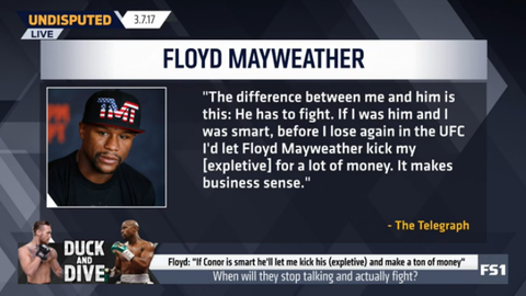 Floyd Mayweather: McGregor would make a lot of money by losing to me