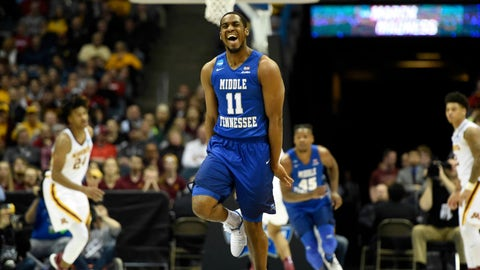 South Region: No. 12 Middle Tennessee vs. No. 4 Butler (7:10 p.m. ET)