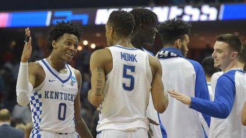 South Regional: No. 2 Kentucky vs. No. 1 North Carolina (Sunday, 5:05 p.m. ET)