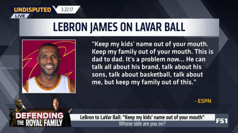 LeBron James: 'Keep my family out of this'