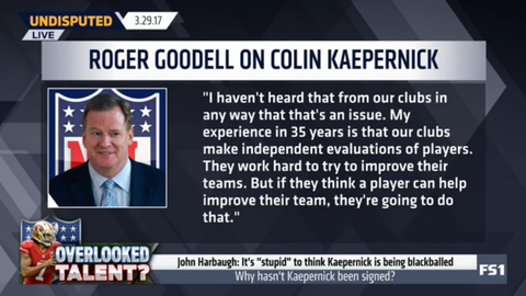 Roger Goodell: I have not heard that this is an issue