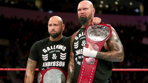 Gallows and Anderson vs. Enzo and Cass for the Raw Tag Team Championship