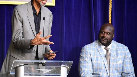 Shaq and Kareem Abdul-Jabbar