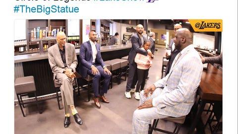 Shaq, Kareem, Kobe and Derek Fisher