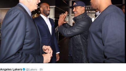 Kobe, Phil, Rick Fox and Devean George