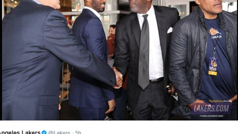 Kobe, Phil, Rick Fox and James Worthy