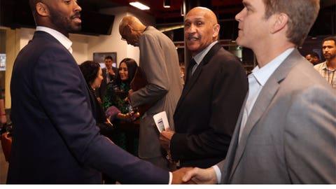Kobe, Stu Lantz and Luc Robitaille