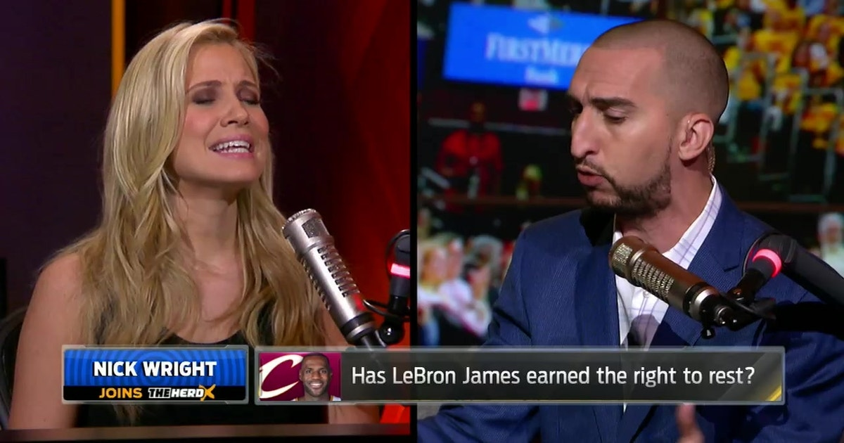 9ac78f3c4fb7 Does LeBron James deserve the right to rest  Nick Wright and Kristine Leahy  debate