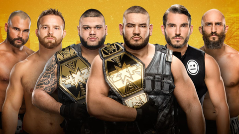 The Authors of Pain vs. DIY vs. The Revival in a triple-threat elimination match for the NXT Tag Team Championship