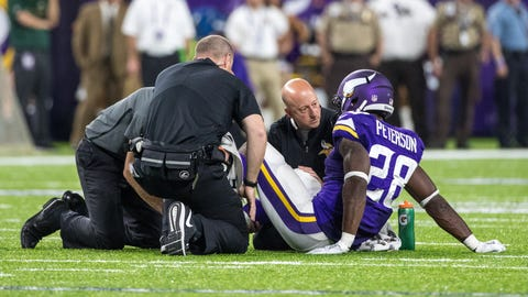 'Does Adrian Peterson see himself as an aging running back?'
