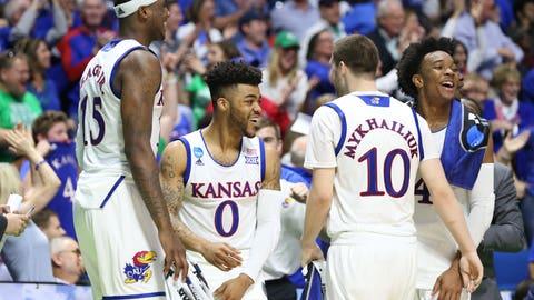 5:15 p.m. ET - (1) Kansas vs. (9) Michigan State - CBS