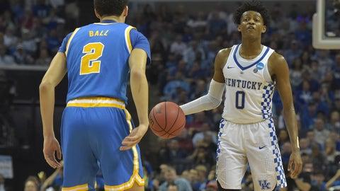 Sacramento Kings: De'Aaron Fox, PG, Kentucky (freshman)