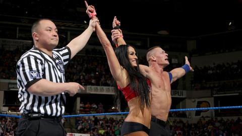 John Cena and Nikki Bella vs. The Miz and Maryse