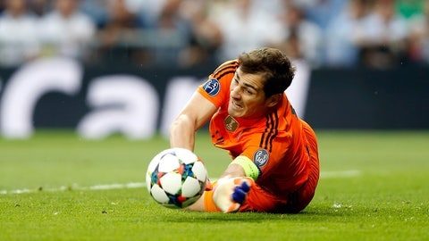 Last appearance with Real Madrid
