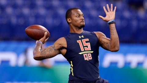 Shannon: There's no point in paying attention to a quarterback's Combine event results