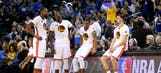 Warriors continue Finals pursuit with Durant sidelined