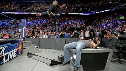 What is Shane McMahon going to jump off of?