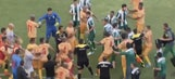 Watch this derby descend into an all-out brawl and absolute chaos