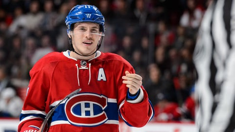 MONTREAL, QC - NOVEMBER 16:  Brendan Gallagher #11 of the Montreal Canadiens reacts during the NHL game against the Vancouver Canucks at the Bell Centre on November 16, 2015 in Montreal, Quebec, Canada.  The Montreal Canadiens defeated the Vancouver Canucks 4-3 in overtime.  (Photo by Minas Panagiotakis/Getty Images)