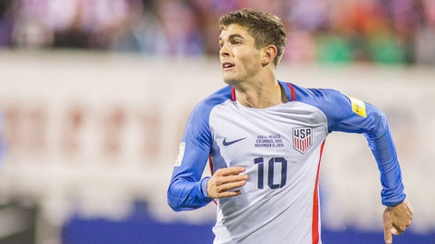 Left wing: Christian Pulisic