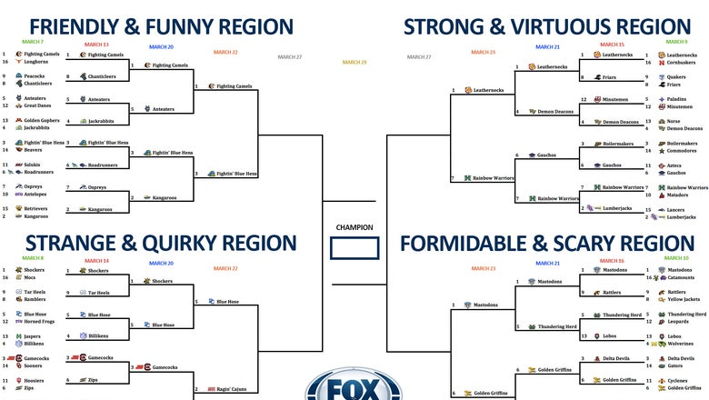 College basketball team nickname bracket: Vote now in the Elite Eight