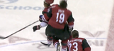 Two Coyotes teammates were involved in a violent collision before game