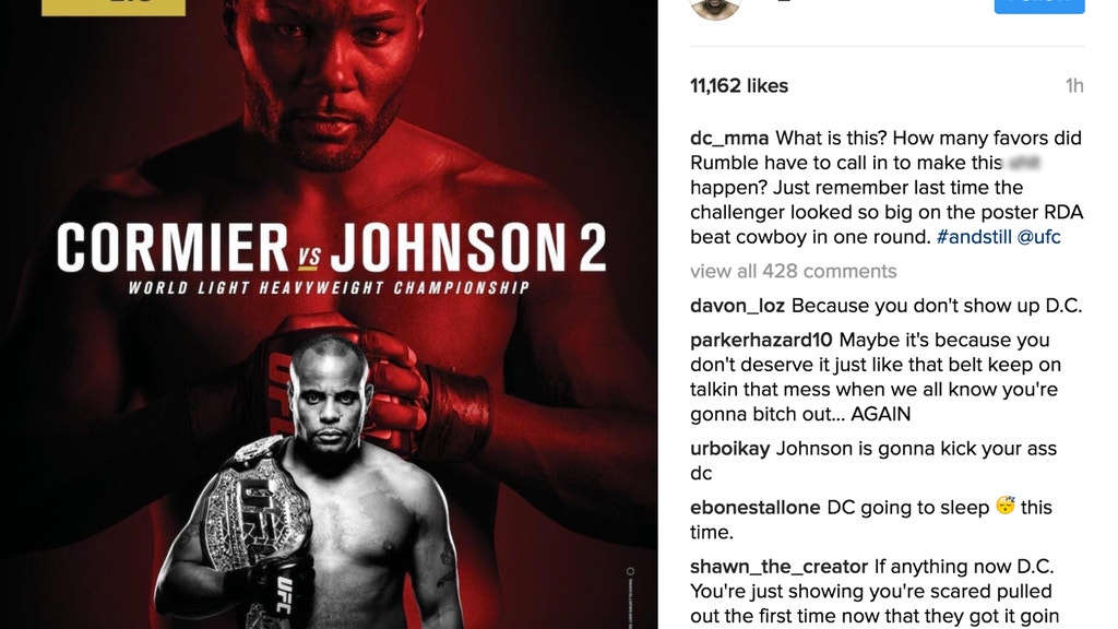 Daniel Cormier takes a shot at the official poster for UFC