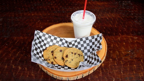 Warm cookies and milk