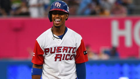 Just like with the Indians, Frankie has been a key contributor for Puerto Rico