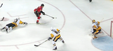 Johnny Gaudreau cut through Penguins defense by himself for a great goal