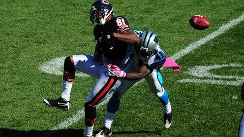 October 22: Carolina Panthers at Chicago Bears, 1 p.m. ET