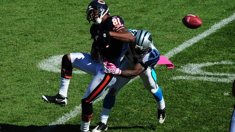 October 22: Carolina Panthers at Chicago Bears, 1 p.m. ET